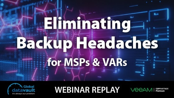 backups for msps and vars