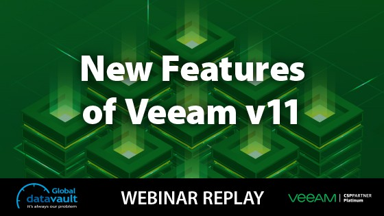 New features of Veeam v11 webinar