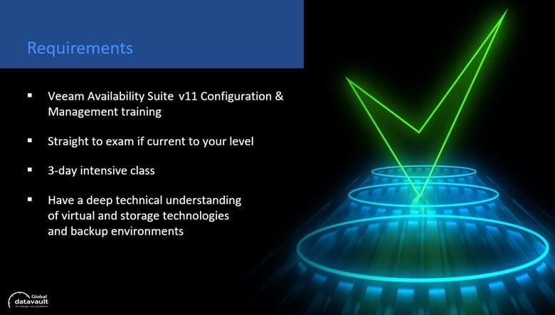 Veaam VMCE certification - exam requirements