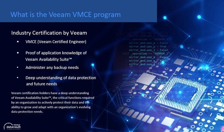 what is veeam vmce certification